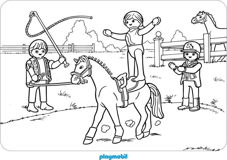 ausmalbilder playmobilausmalbild pferdausmalbilder