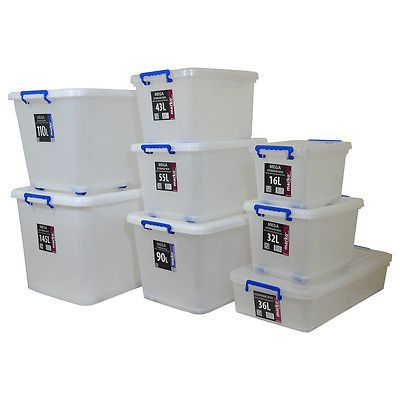 Extra #large huge strong #plastic storage boxes #wheels clip lids stackable box n  sc 1 st  Pinterest & 25+ unique Large plastic storage boxes ideas on Pinterest | Large ... Aboutintivar.Com