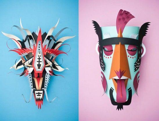 Как делают маски из бумаги