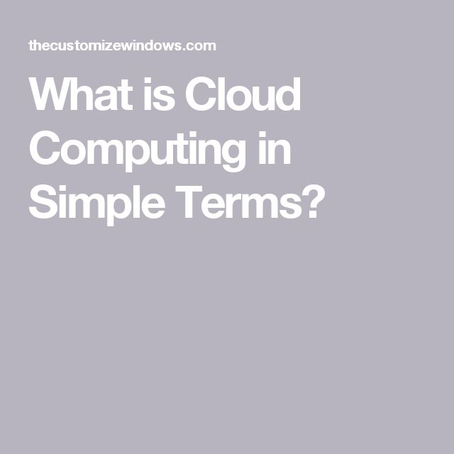 What is Cloud Computing in Simple Terms?