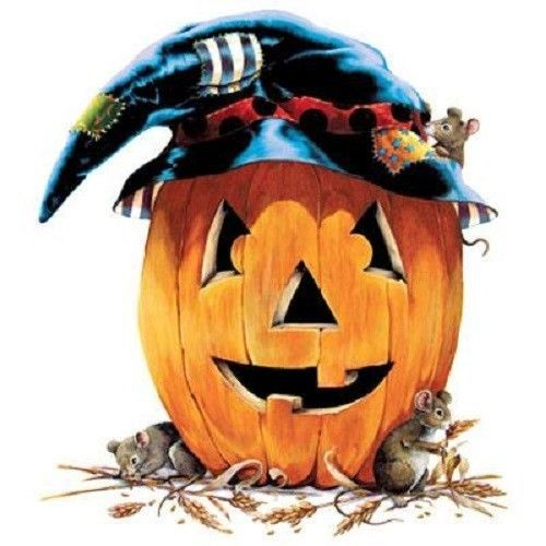 Halloween Friends HEAT PRESS TRANSFER for T Shirt Sweatshirt Tote Bag Quilt 180b