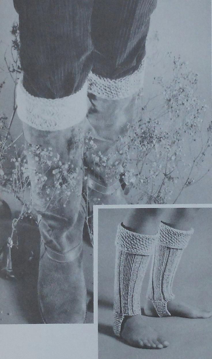 Retro Boot Topper Knitting Pattern