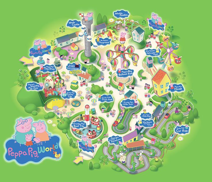 Peppa Pig World Park Map