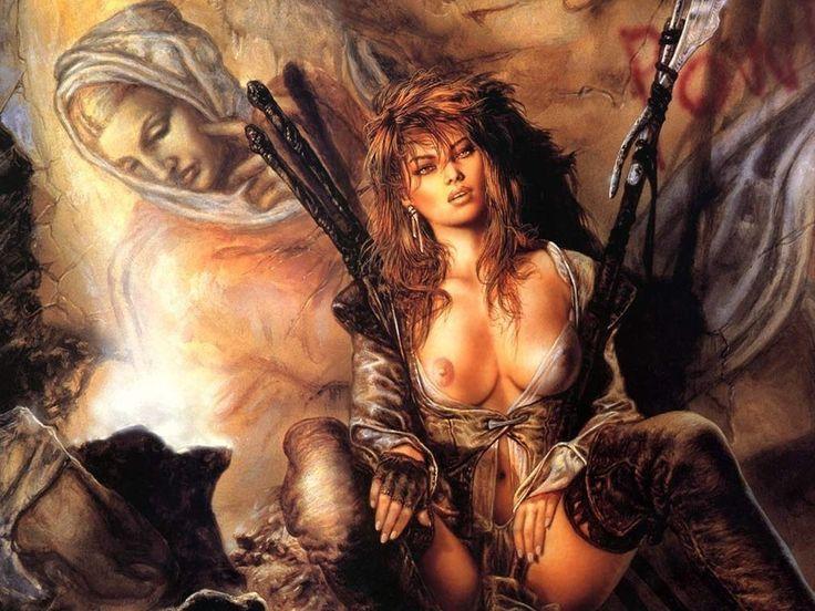 Erotic woman warrior fantasy art