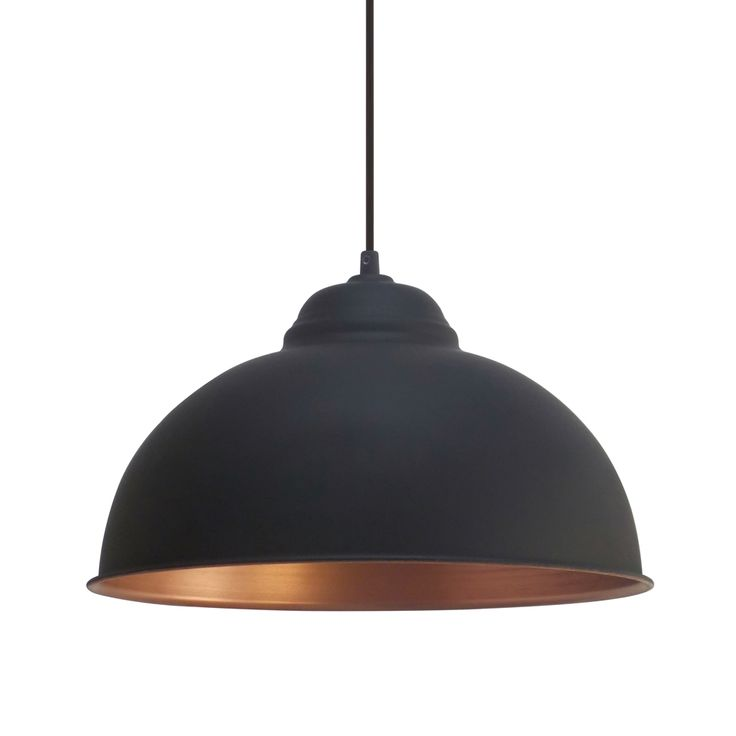 Eglo Vintage (49247) Black and Copper 370 Pendant | Breakfast Bar Lights |