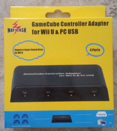 Gamecube Controller Adapter for Wii U & PC USB NEW Super Smash Bros 4 ports