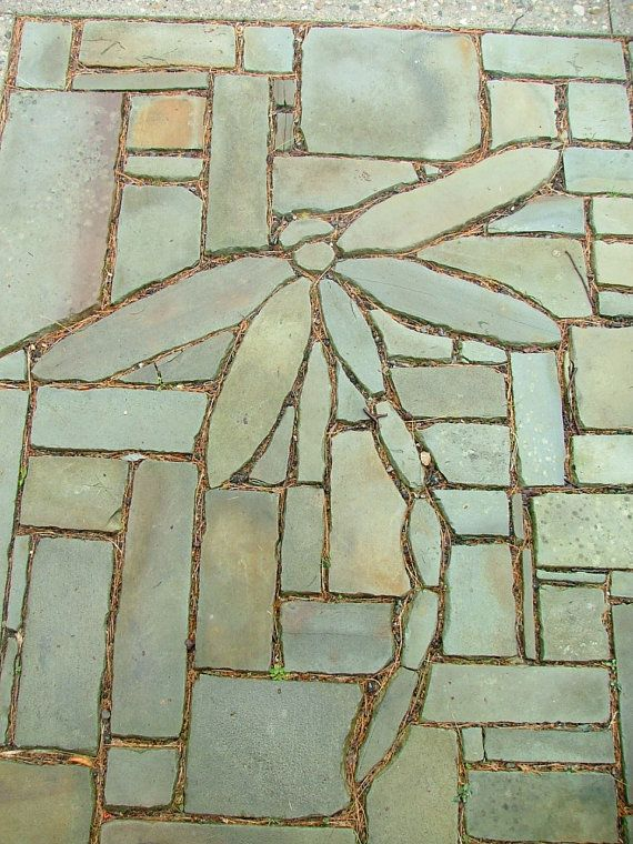 <3 Stone Flowers Garden Art Hand Chipped Sandstone by dave450, $130.00