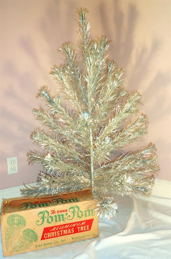 The Sparkler Pom Pom Aluminum Christmas Tree Has 46 Branches All