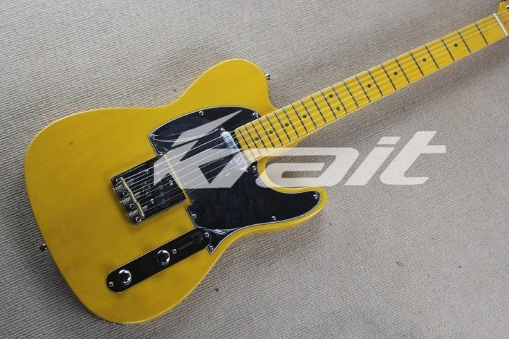 160.55$  Watch now - http://aliyux.worldwells.pw/go.php?t=32707616057 - Krait Yellow Color Black Pickguard TL Electric Guitar for Sale 22 Frets Maple Fingerboard Guitars China