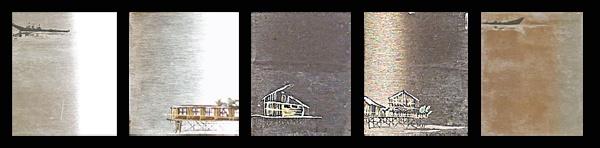 Sair Garcia, Magdalena Series, 2013, oil on steel, 5 x 4 cm. each. Fragment of an installation.