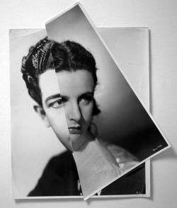 'Marriage (Film Portrait Collage) XXXI' John Stezaker. An example of John Stezakers work from his marriage series where he spliced together images of famous male and female film stars, creating hybrids of male and female identity.