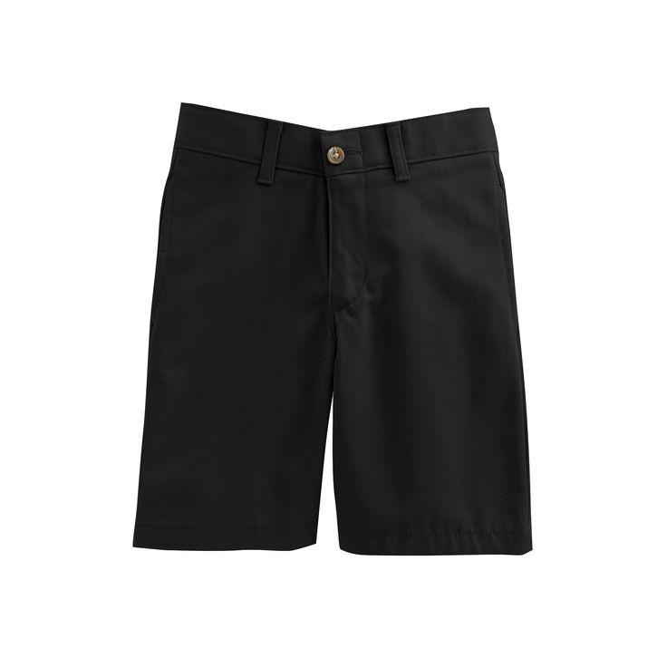 Boys 4-20 Chaps Twill School Uniform Shorts, Boy's, Size: 16, Black
