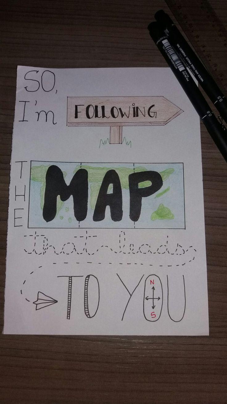 Lettering da música Maps de Maroon 5