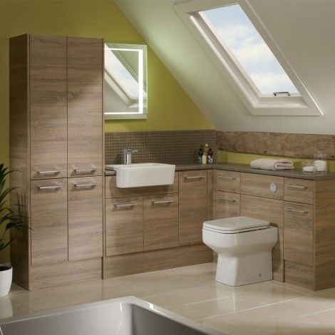 Aruba washed oak fitted bathroom furniture | Roper Rhodes