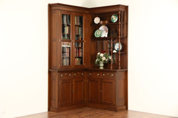 Victorian Eastlake Corner 1885 Antique Walnut Library