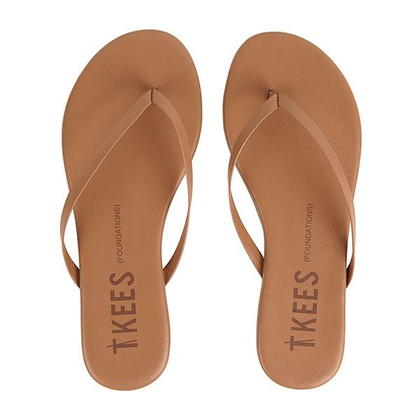 TKEES Flip Flops FOUNDATIONS ($50) ❤ liked on Polyvore featuring shoes, sandals, flip flops, tkees, tkees sandals, beach shoes, beach footwear and beach sandals
