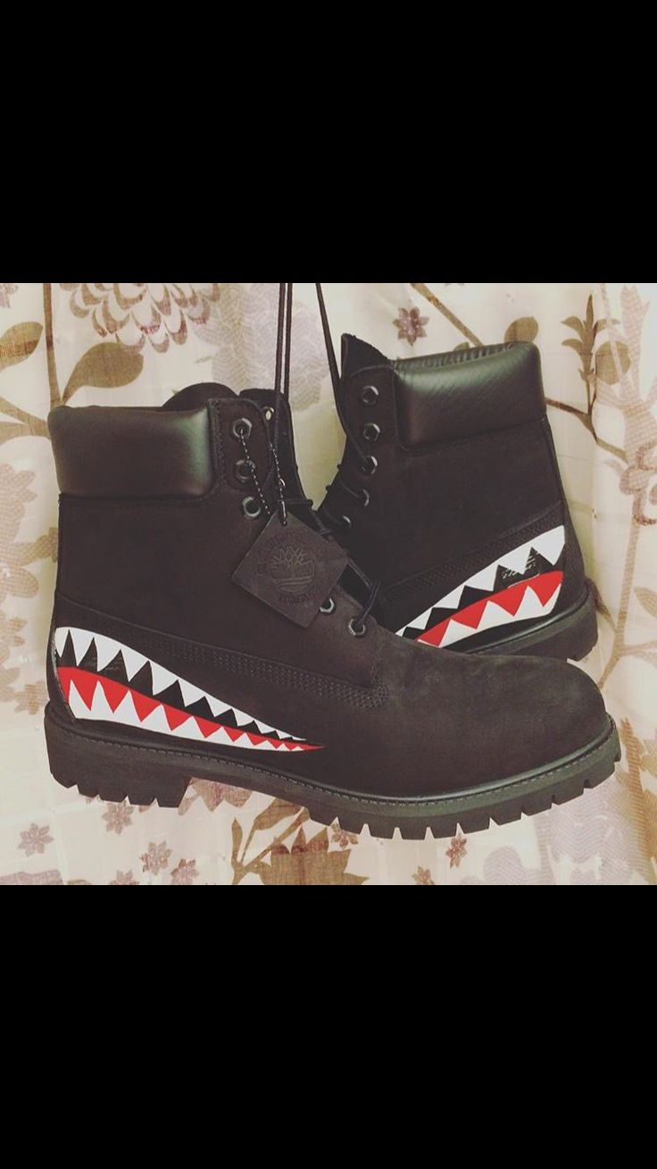 Black Gold Painted Timberland Boots