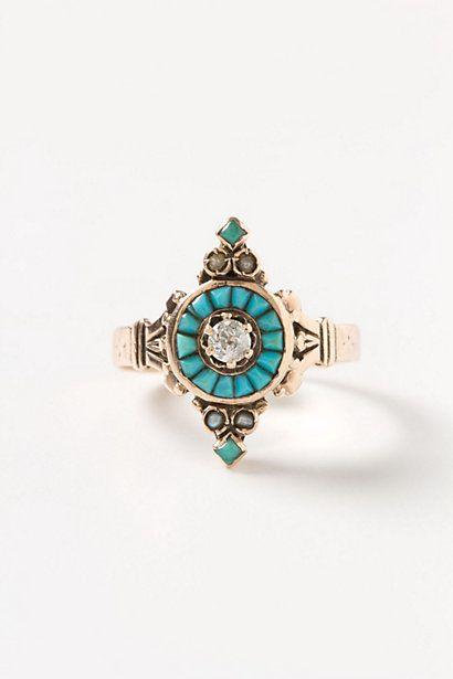 Diamond & Turquoise Ring -