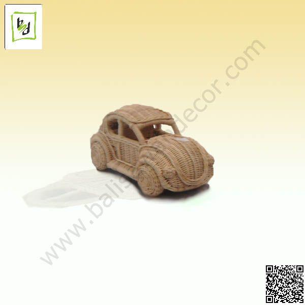 VW miniature rattan by #balisawahdecor see more at www.balisawahdecor.com
