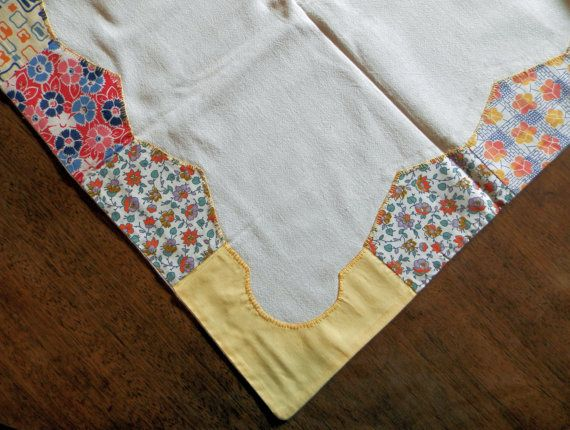 Vintage Quilted Tablecloth 39 Square By JazzyMarie On Etsy, $25.00