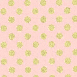 Metallic Gold Dot and Blush Pink Crib Sheet