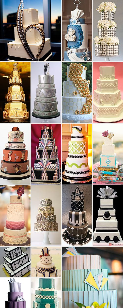 Art deco cakes are inspired by the 1920s art deco era, mirroring the art, architecture and style by which this decade is characterised.