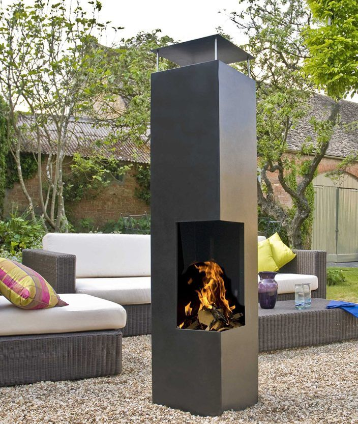 The Modern Chiminea Nine Top Models Reviewed Outsidemodern Patio Fireplace Contemporary Patio Building A Pergola