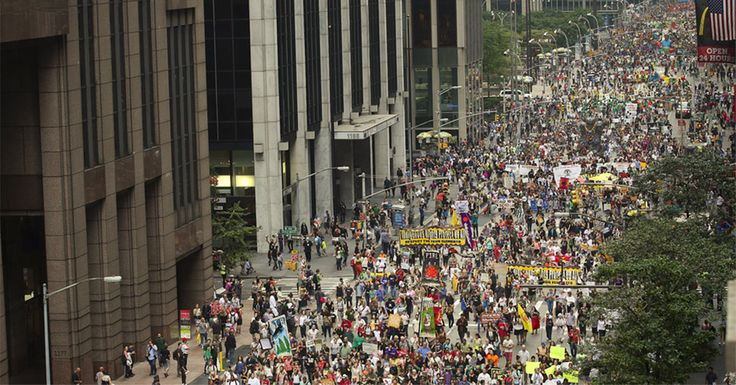 Mass Media ignored massive climate change marches across the world.