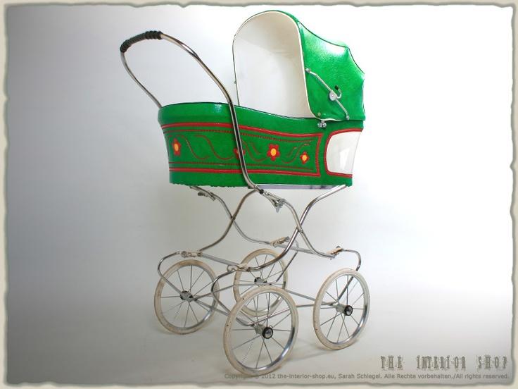 Flower Power Puppenwagen Kinderwagen * 60er-Jahre * 70er-Jahre * Designklassiker * RAR * antik *