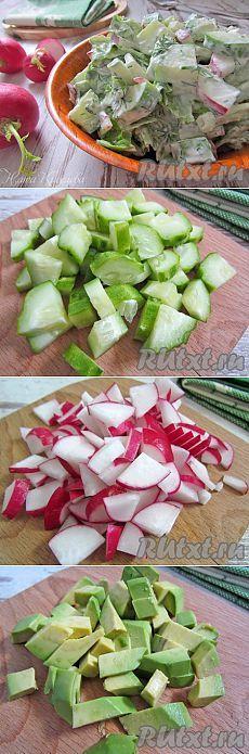 с редисом, огурцом и авокадо (рецепт с фото) | RUtxt.ru