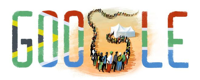 Google Doodle Freedom Day 2015 #freedomday #southafrica