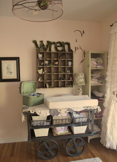 "shabby chic bird themed nursery and ""Wren"" baby. love the name Wren for a baby girl!!"