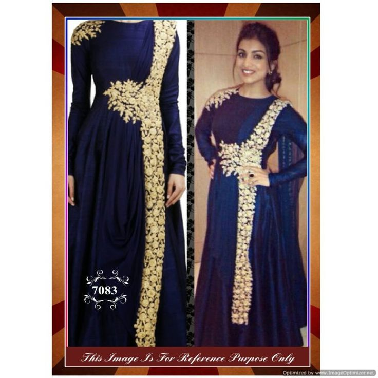 Piramalls New Arrival Blue Fancy Gown With Dupatta