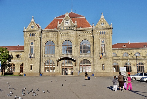 My home for 2 years.  Arad, the city, not the train station. Arad city , Romania.