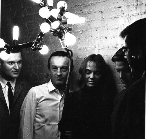 John Ashbery, Frank O'Hara, Patsy Southgate, Bill Berkson, Kenneth Koch, 1964 (Photo: Mario Schifano)
