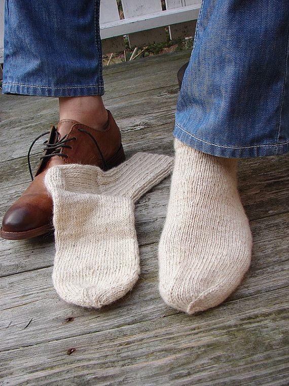 Mens Socks Wool Knit Socks Men's Gift Grandfather Gift