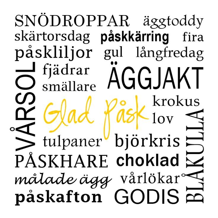 Påsktavla / Tavla påsk / Påskpresent - made by Helle
