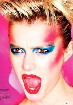 80s Makeup Looks, 1980s Makeup, Retro Makeup, Vintage Makeup, Glam Makeup, Hair Makeup, Makeup Style, Eye Makeup, Make Up Looks