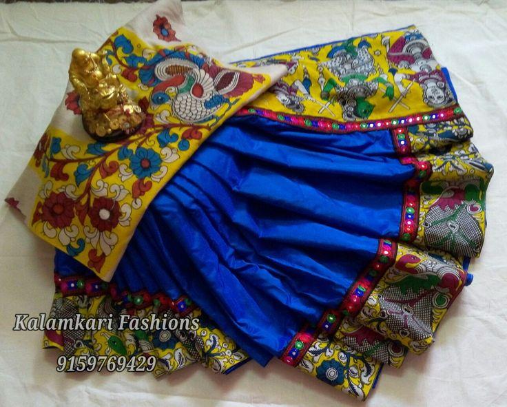 KALAMKARI border sarees with blouse
