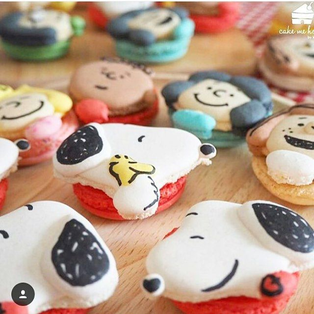 Macarons lindos do Snoopy por @macaronslady  #kikidsparty