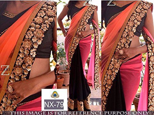 Khazanakart New Attractive Multi Colour Georgette Fabric…