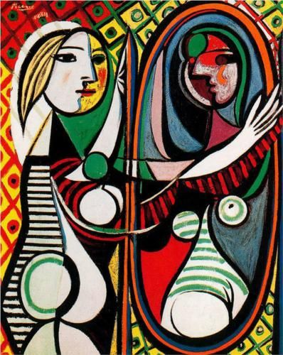 Girl in front of mirror - Pablo Picasso - WikiArt.org