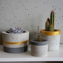 SML - zestaw 3 doniczek, malowanych, GrowRaw
