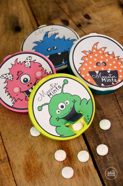 Monster Mints and 12 Free Halloween Printables | theidearoom.net