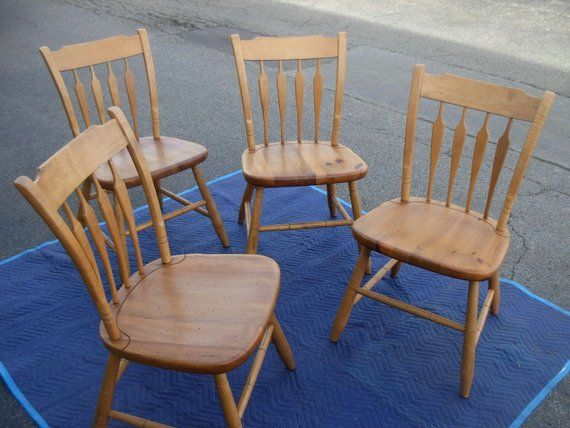 Rare Ethan Allen Dining Chairs Farmhouse Pine Collection Style 23