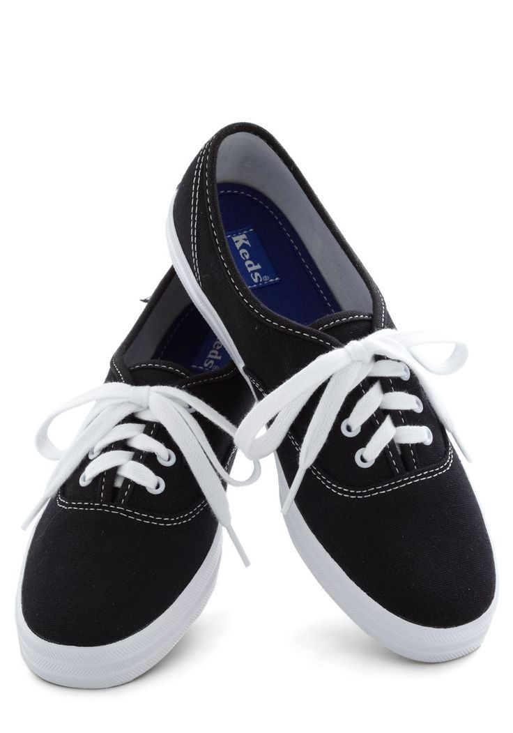 Very Important Skate Sneaker by Keds - Black, White, Solid, Flat, Casual, Menswear Inspired, Vintage Inspired