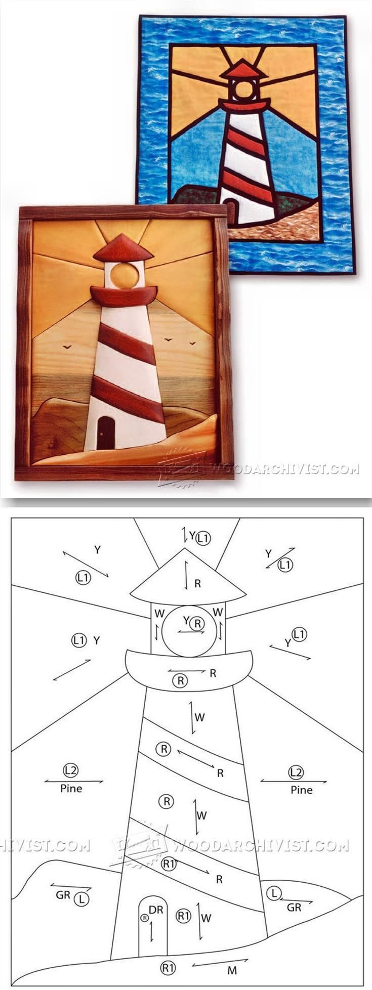Lighthouse - Intarsia Projects, Tips and Techniques | WoodArchivist.com