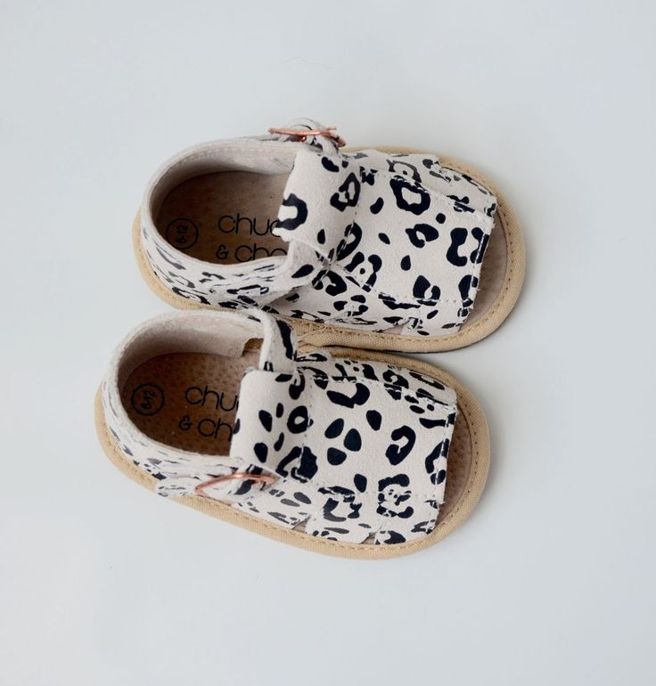 Sachi Sandals - Snow Leopard - By Chuckle & Charm! Sizes 0-4Years - Designed in Australia