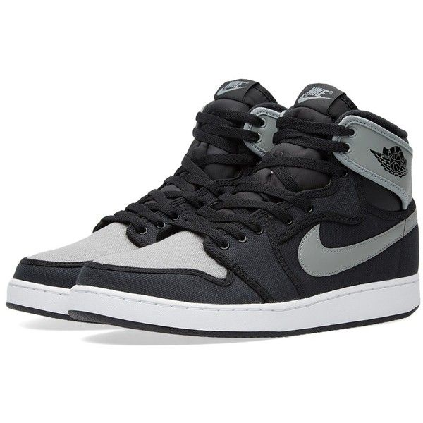 Nike Air Jordan KO High OG ($150) ❤ liked on Polyvore featuring men's fashion, men's shoes, men's sneakers, shoes, men's wear, sneakers, mens hi tops, mens sneakers, mens retro sneakers and mens retro shoes