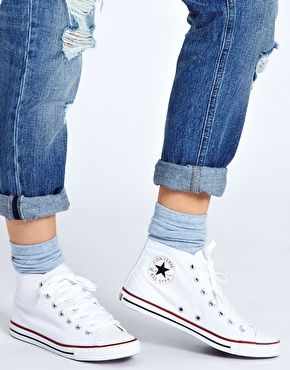 Enlarge Converse All Star Dainty White High Top Trainers